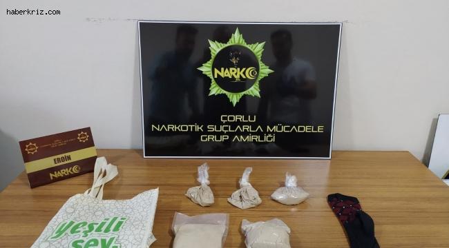 Çorlu'da uyuşturucu satıcılarına operasyon