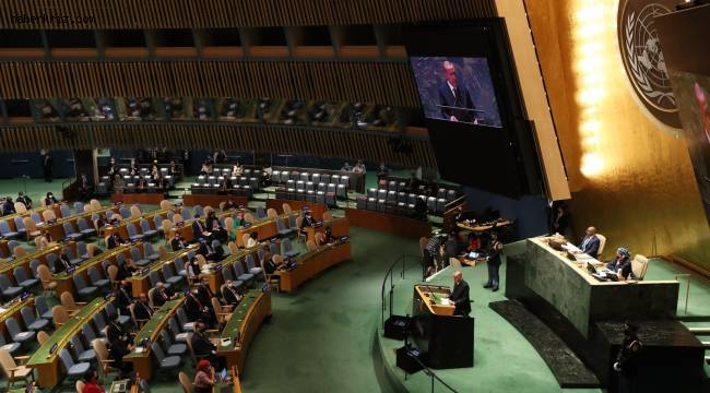Cumhurbaşkanı Erdoğan, BM 76. Genel Kurulu Toplantısında dünyaya seslendi