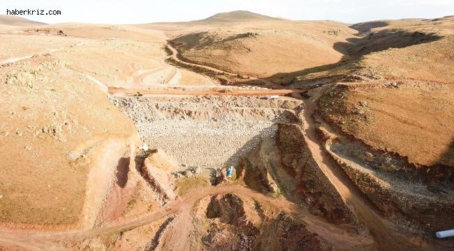 Erzurum Köşk Barajı'nda çalışmalar aralıksız devam ediyor