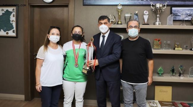 Fadıloğlu, Türkiye şampiyonunu ağırladı