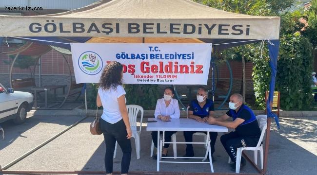 Gölbaşı Belediyesinin öğrenci masası takdir topluyor