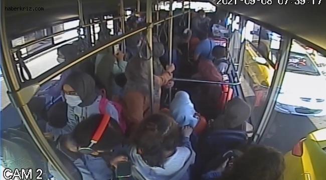 Halk otobüsü şoförü, baygınlık geçiren yolcuyu hastaneye yetiştirdi