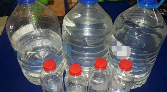 İş yerinde 15 litre kaçak alkol ele geçirildi