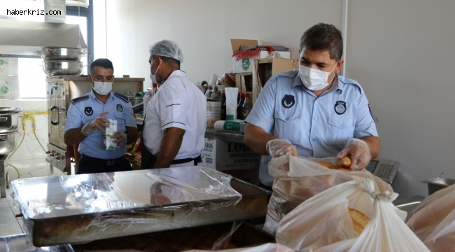 Karaköprü'de okul kantinlerinde pandemi denetimi