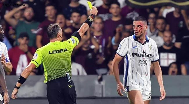 Merih Demiral kana bulandı! Milli futbolcu kanlar içinde kaldı! Şok görüntüler!