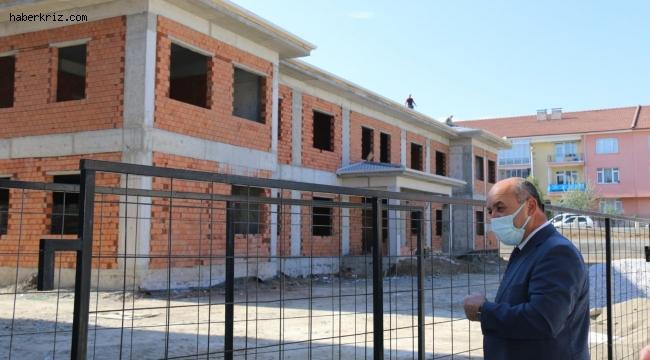 Müdür Başyiğit, anaokulu inşaatında incelemelerde bulundu