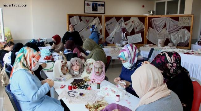 Oflu kadınların el işlemeleri Suudi Arabistan'dan alıcı buluyor