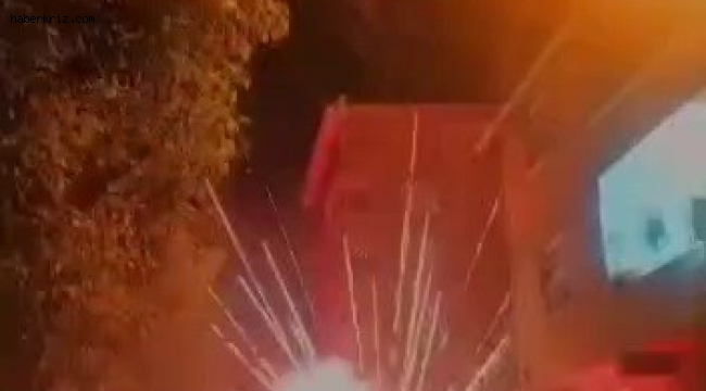 Sancaktepe'de düğünde havai fişek bomba gibi patladı, davetliler kaçıştı