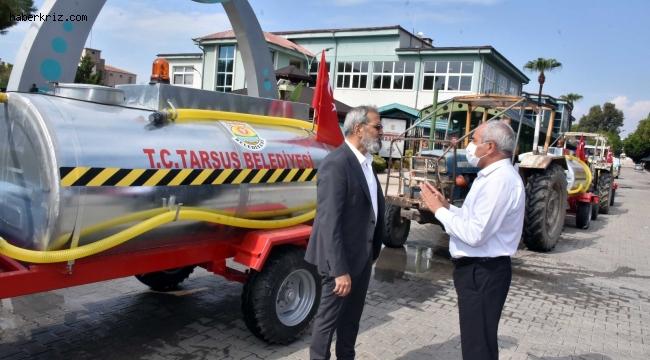 Tarsus Belediyesi orman yangınlarını söndürme çalışmalarına destek olmayı sürdürüyor