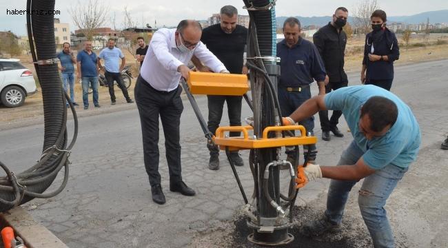 Türkiye'de bir ilk, Turgutlu yama makinesine kavuştu