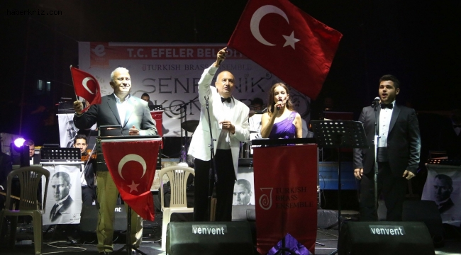 Umurlu'da senfonik konser düzenlendi
