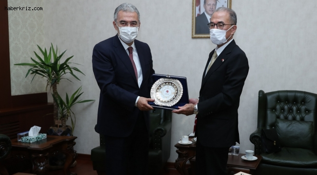 Vali Ayyıldız, Japon büyükelçiyi makamında ağırladı